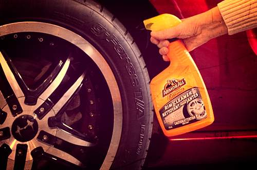 How to clean tires and wheels.